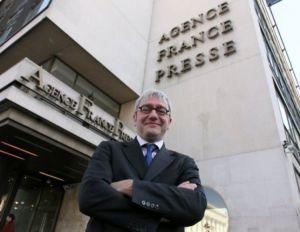 Le PDG de l'Agence France-Presse, Emmanuel Hoog, le 16 avril 2010. (Photo Thomas Coex. AFP)
